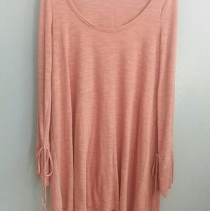 Free People Beach Peach color shirt dress